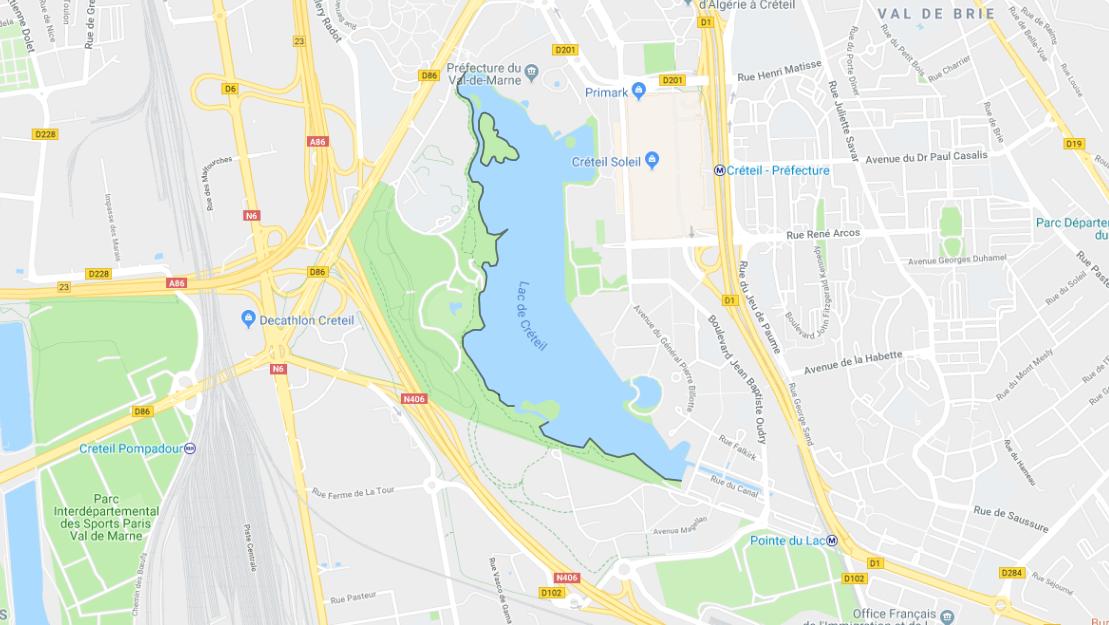 lac creteil carte