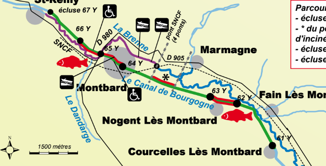 Canal De Bourgogne Carte.Canal De Bourgogne Secteur Montbard Cote D Or 21 Geocarp Com