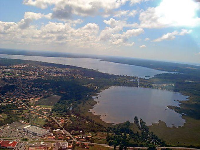 Vue aérienne -  Lac Biscarrosse