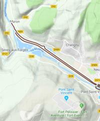 Le canal des Vosges – Secteur Messein – Neuves Maisons