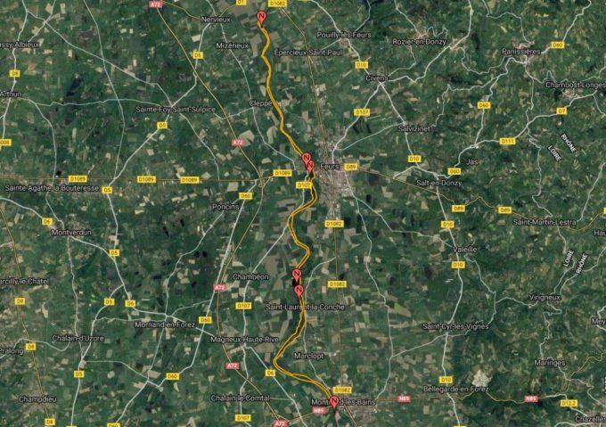 Fleuve Loire - Entre les barrages de Grangent et Villerest