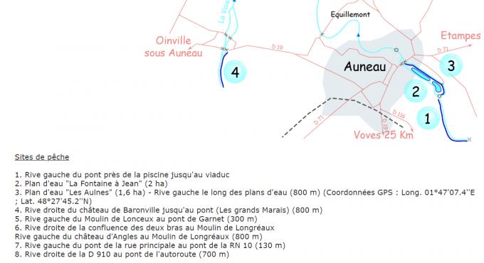 Carte des 2 plans d'eau
