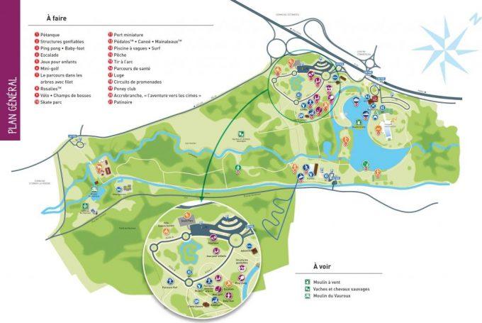 Carte Plan d'eau Base de loisirs Etampes