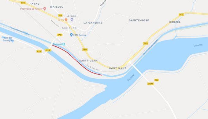 Canal de Garonne - Parcours Malause