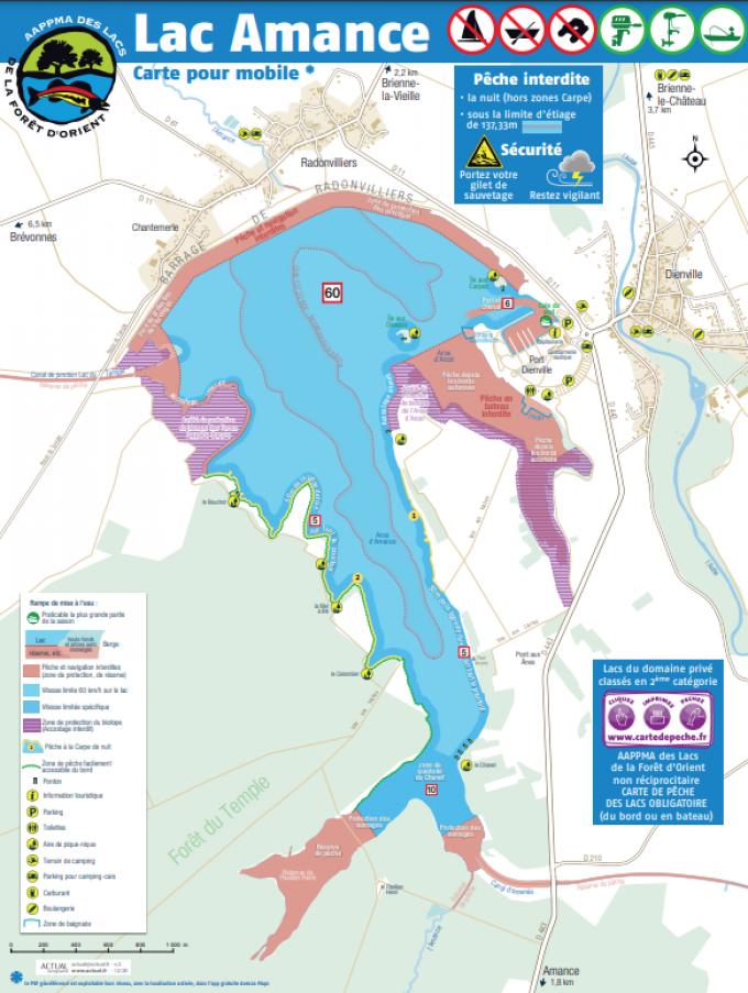 Carte - Lac Amance