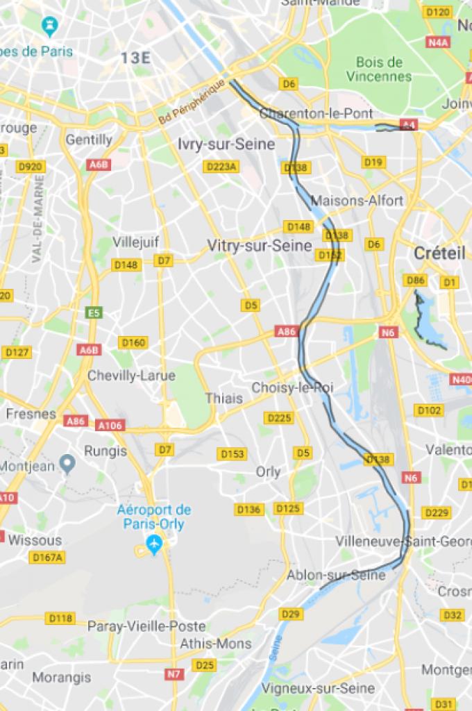 La Seine - Parcours carpe de nuit (en Noir) - Val de Marne