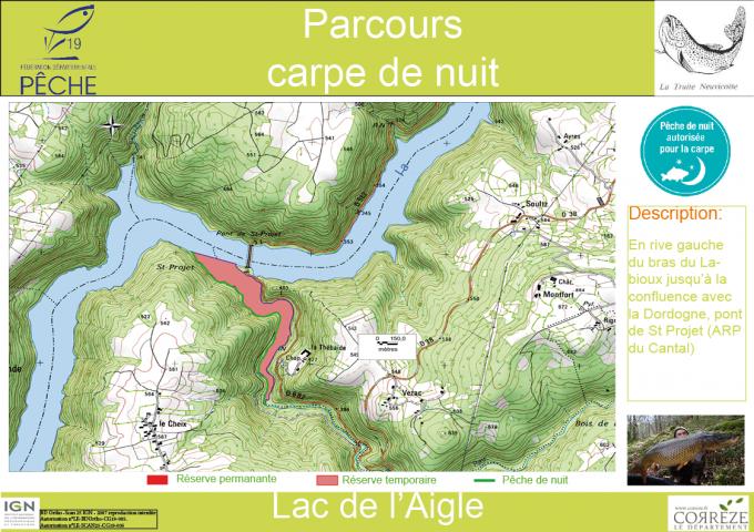 Parcours de nuit -Le barrage de l'Aigle